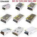 Lincoiah Switching Power Supply Light Transformer AC 100-240V DC 5V 12V 24V 36V 48V Source Adapter SMPS For LED Strips CCTV Lamp