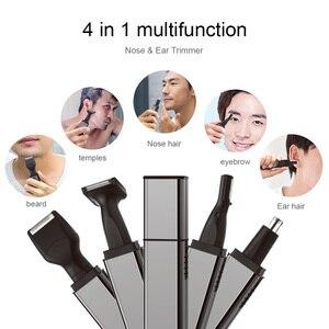 Image 2 - ANLAN trymer do włosów w nosie dla mężczyzn trymer do uszu trymer do włosów w nosie trymer do nosa bezprzewodowy akumulator trymer do brody