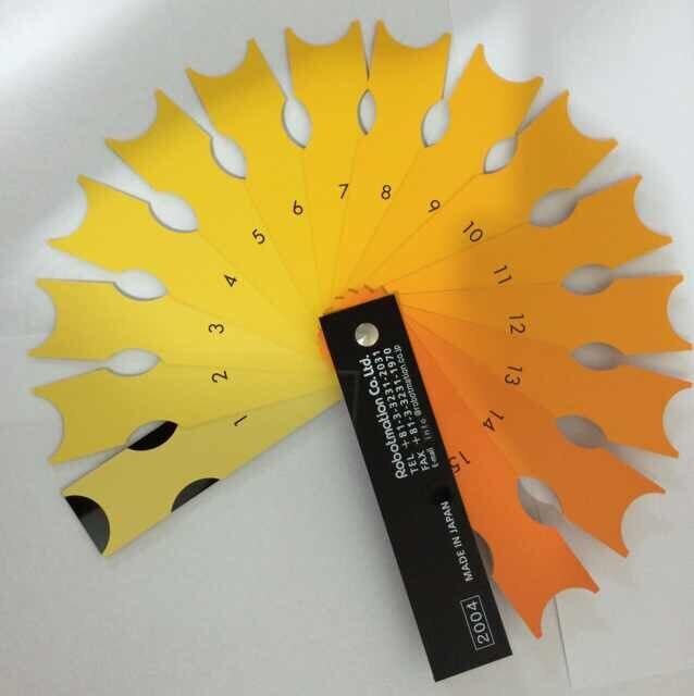 Color Comparison Fan / Yolk Color Tester / Yolk Color Comparison Fan / Yolk Color Comparison Card