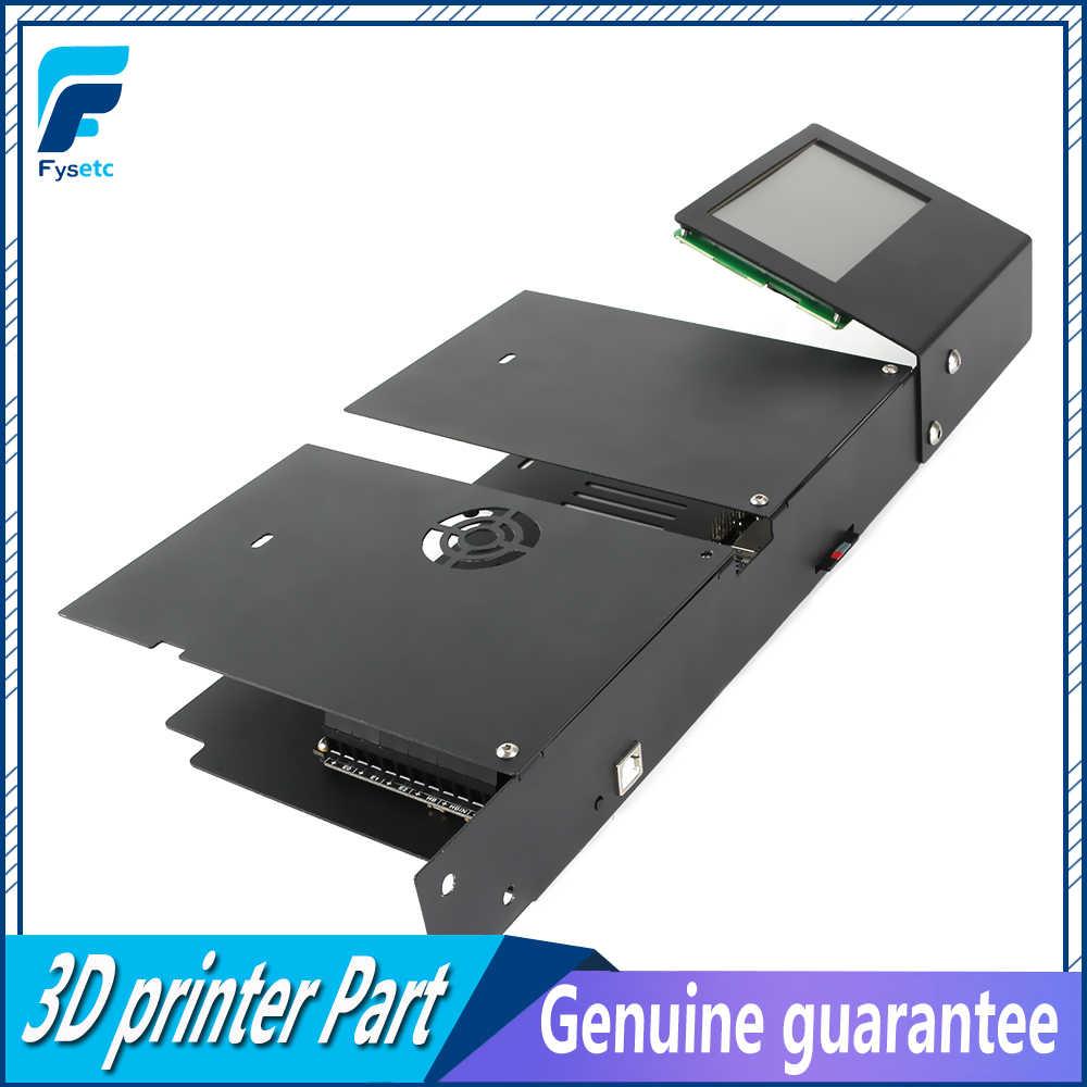 """Placa base FYSETC F6 V1.3 + 6 uds TMC2208, controlador de Motor + Pantalla de 4,3 """", Kit de caja de visualización táctil para Ender-3"""