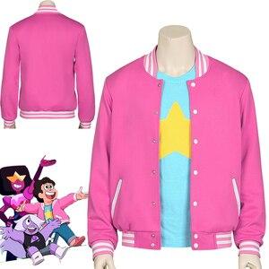 HOT! Movie Steven Universe Quartz cosplay Men Baseball uniform Unisex Coat T-Shirt Jacket Tee Top T Shirt Halloween Costumes(China)