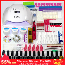 Top-Coat Base Manicure-Set Nail-Kit Gel-Polish Led-Lamp Choose Electric Uv 12/10-Colors