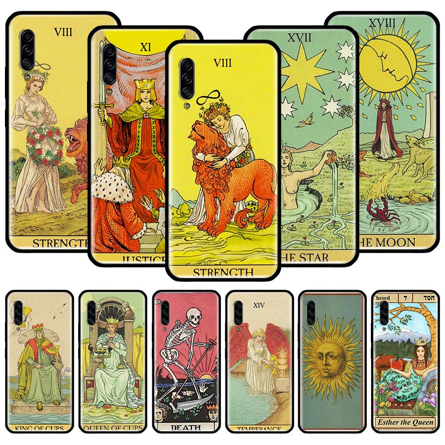 Egypt Mysterious Tarot Divination Silicone Case For Samsung Galaxy A51 A71 A10 A20 A30 A40 A50 A70 A21 A31 A41 A91 Cover Couqe