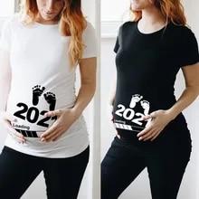 Shirt Short-Sleeve Pregnant-T-Shirt Baby Loading Printed Pregnancy-Announcement Girl