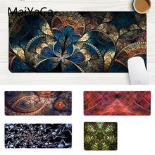 MaiYaCa простой дизайн Фрактал арт абстрактный геймер скорость мыши розничная маленький резиновый коврик для мыши большой Lockedge мышь padPC компьютерный коврик