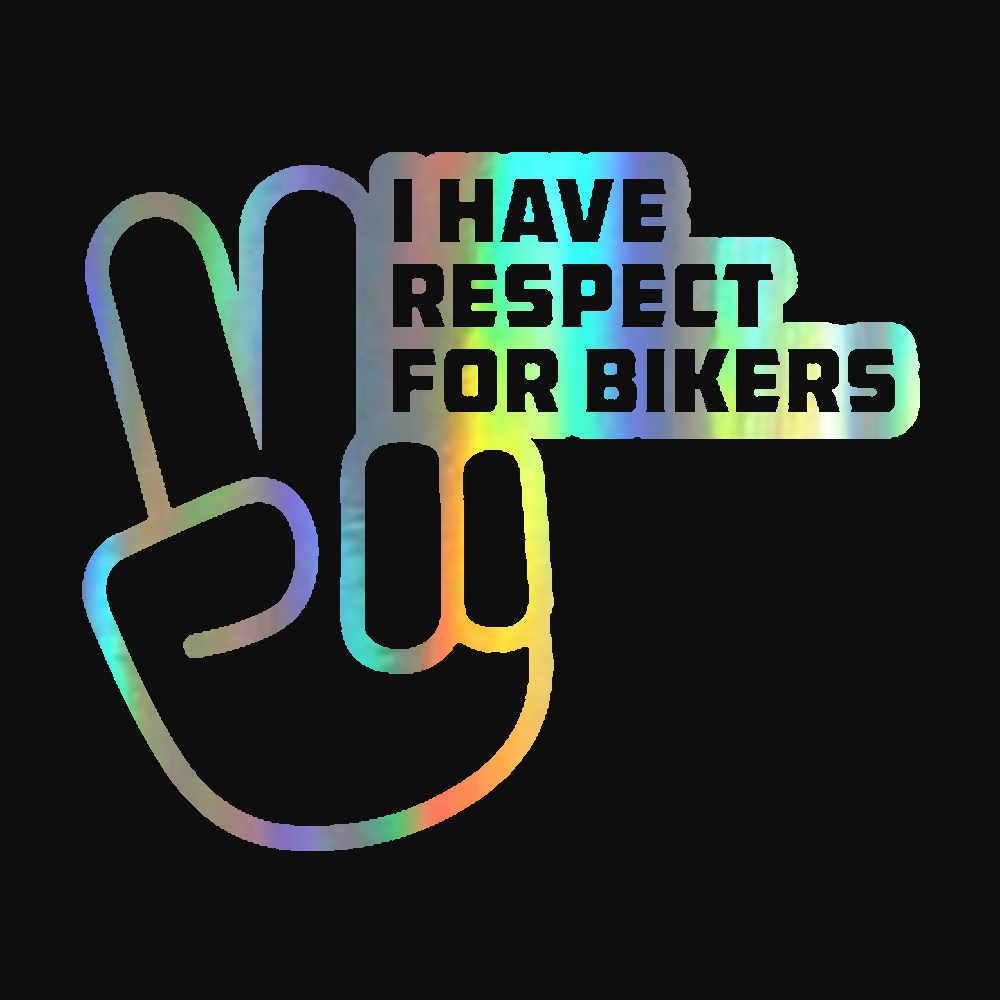 Motorfiets Sticker Respect Voor Fietsers Reflecterende Auto Stickers Moto Auto Decal Funny Jdm Vinyl Op Auto Styling