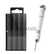 цена на Mini Spiral Hand Manual Drill Chuck Twist Pin Vise Bits Kits Jewelry Tool
