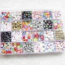 Beaded-Bracelet Beads Letter Acrylic-Plastic Children Constellation-Number Manual DIY