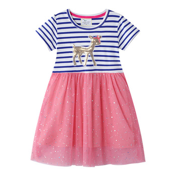 2020 Girls Dress Kids Unicorn Dresses Vestido Summer Animals Vestidos Toddler Robe Fille Princess Dress Enfant Costume  Jurken