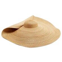 Летняя супер большая шляпа от солнца, модная пляжная кепка s, регулируемая складная соломенная Кепка с защитой от УФ-лучей, соломенная шляпа для пляжа Va