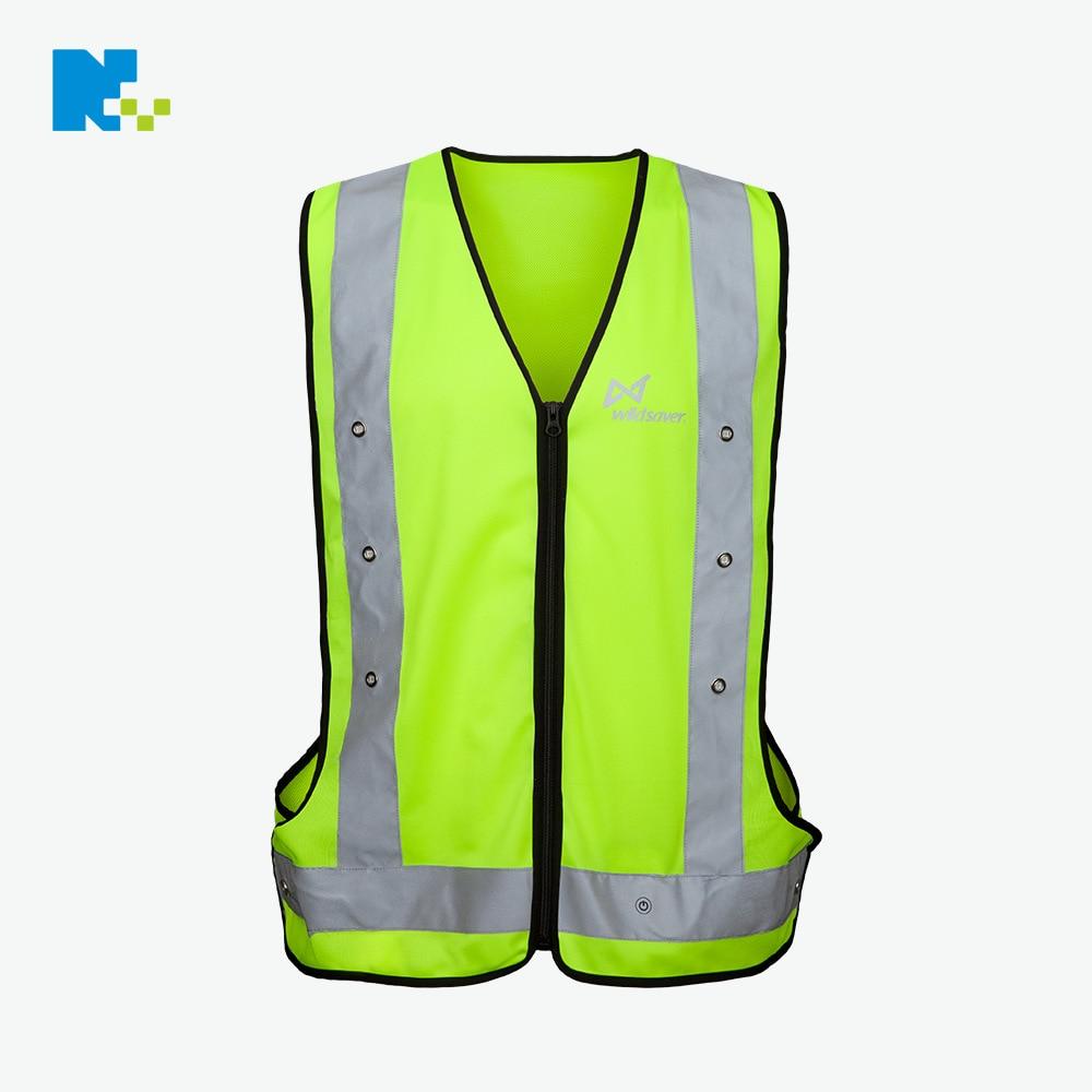 Led Reflective Vest Transportation Logistics Traffic Reflective Waistcoat Gas Station Work Clothes LED Reflective Vest Customiza