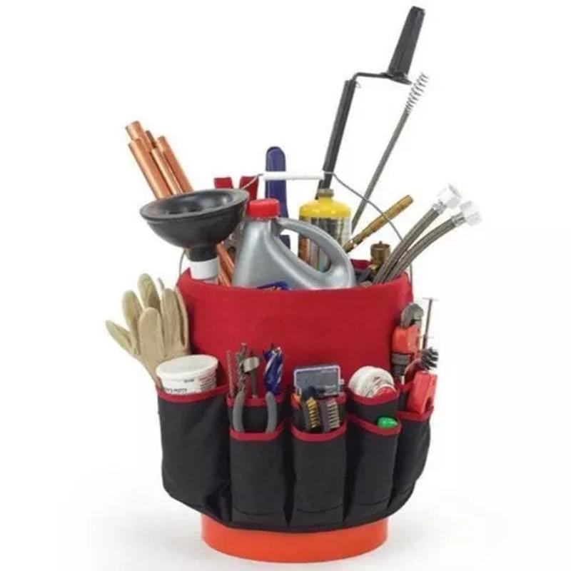 42 Pockets Bucket Tool Organizer Bucket Pouch Storage Tools Large Capacity Portable Garden Planting Tools Placing Bag