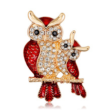 Korean version of high-end drip diamond brooch fashion owl pin factory outlet