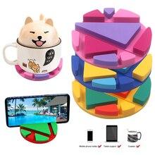 Универсальный Коврик для чашки, подставка для телефона, подставка для iPhone7 X, для samsung, для iPad, настольная подставка, портативное крепление, поддержка мобильного телефона