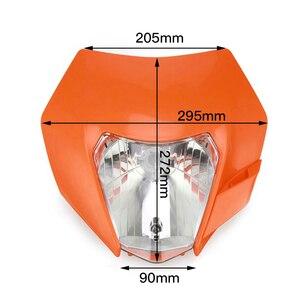 Image 3 - Motorfiets Koplamp Koplamp Kuip Met H4 Lamp Voor Ktm Exc Sx Xc Xcw Xcf Xcfw Sxf Smr Excf 125 150 250 300 350 450 530 Atv