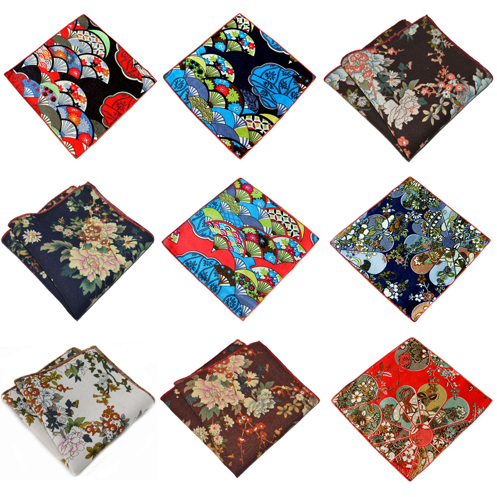 Men's Suit Floral Printed Handkerchief Party Accessories Business Pocket Square BWTYX0316