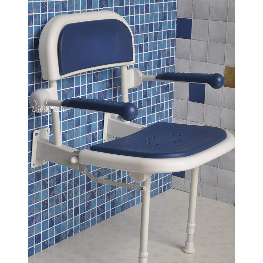 Tabouret de bain mural aluminium salle de bain mur pliable banc 6 vitesses réglage de la vitesse chaise de douche pliante douche siège pliant