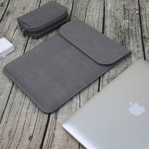 Fashion Leather Bag Laptop Sleeve Waterproof Bags For Macbook Air 13 2018 Touch ID A1932 2019 Case Pro 11 12 15 Touch Bar Cover