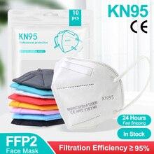 5-200PCS FFP2 Masks KN95 Mascarillas 5 Layers Filter Homologada Face Masks Protective Mouth Mask CE FFP2MASK Respirator Masque