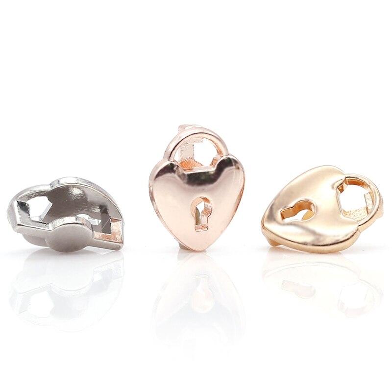 2 шт серебро розовое золото ракета Медведь Сердце Бусины Шарм Подходит 10 мм Нержавеющая сталь сетка браслет часы браслет в виде ремня из бисера - Цвет: GHJ00 (9)
