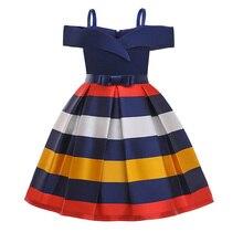 Элегантное платье принцессы на день рождения для маленьких девочек, детские вечерние платья для девочек, свадебное платье для детей 2, 3, 4, 5, 6...