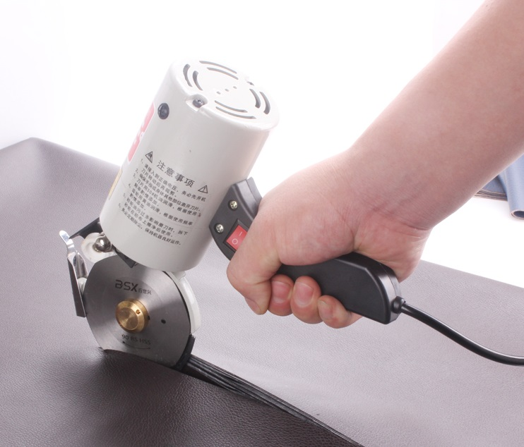 Electric Cloth Cutter Fabric Round Knife Cutting Machine