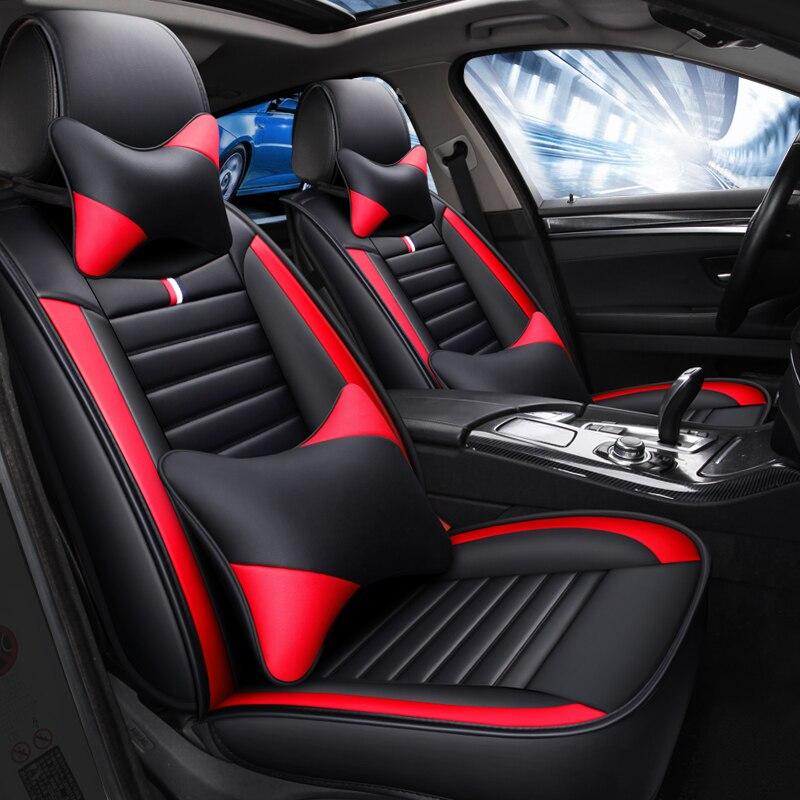 Спортивный кожаный чехол для автомобильного сиденья hyundai Tucson Santa Fe getz solaris creta kona lantra i40 elantra terracan все модели - 4