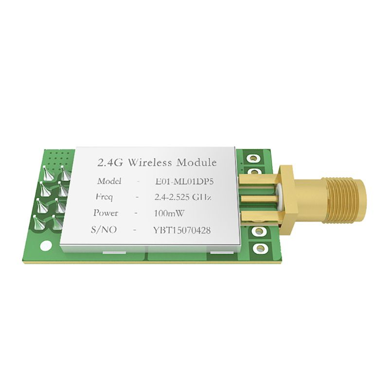 E01-ML01DP5 Long Range SPI NRF24L01P 2.4Ghz 100mW SMA Antenna IoT Wireless Transceiver Transmitter Receiver NRF24L01P RF Module