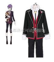Anime DIABOLIK LOVERS Cosplay Sakamaki Kanato High Quality Uniform Set Cos Halloween Party Costume For Men /Women