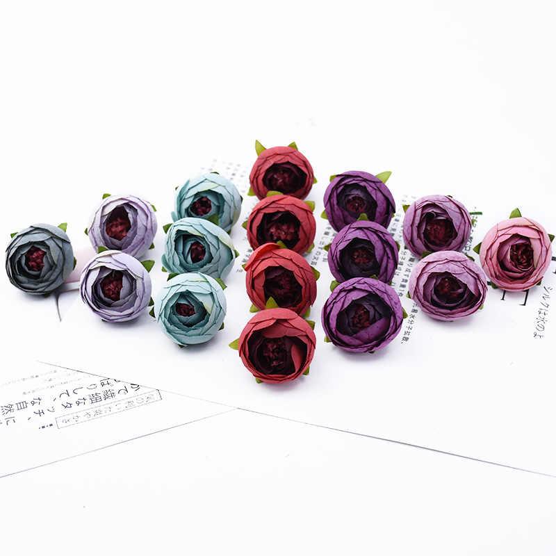 6 Miếng 4 Cm Trà Hoa Hồng Đầu DIY Candy Gói Hộp Trang Trí Nhà Phụ Kiện Cưới Hoa Trang Trí Vòng Hoa Nhân Tạo Hoa
