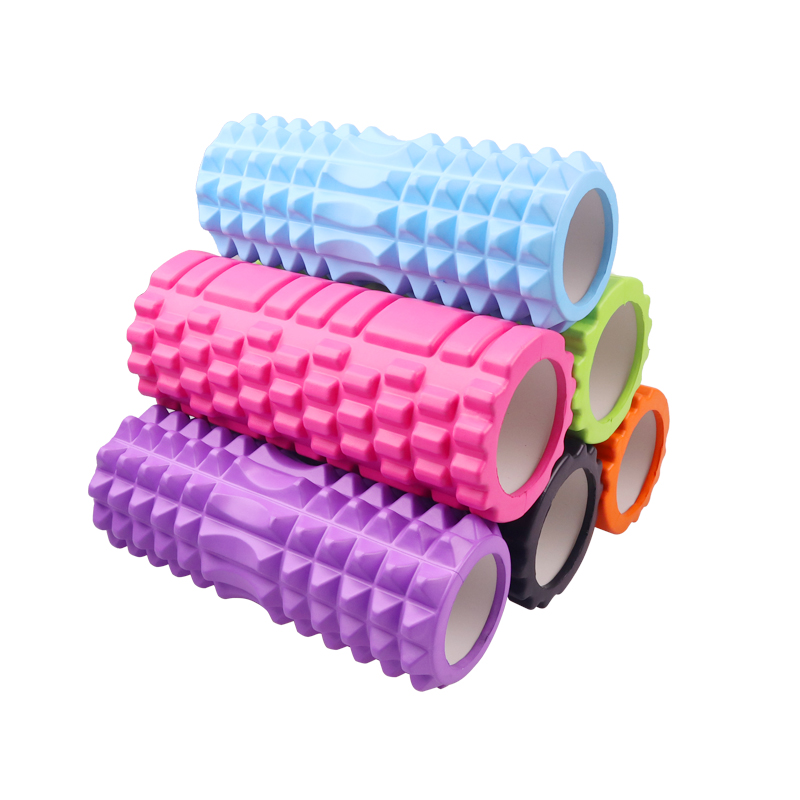 Yoga Column Fitness Pilates Yoga Foam Roller Blocks Train Gym Massage Grid Trigger Point Therapy Physio Exercise 33CM