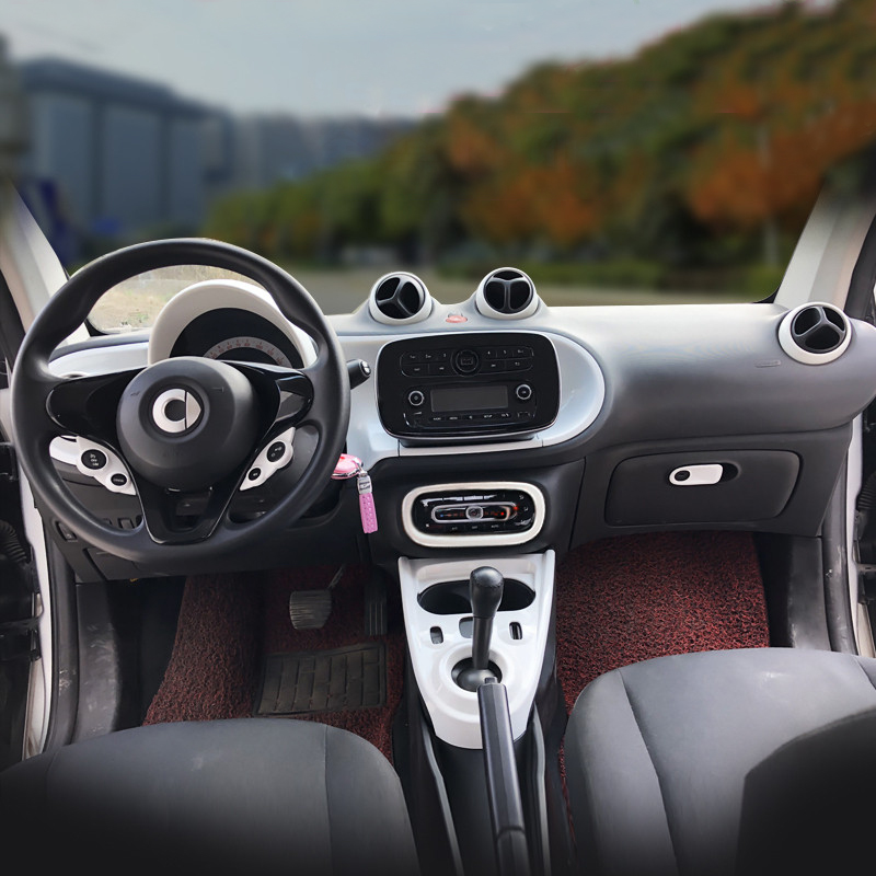 For Mercedes the new Smart 453 Fortwo forfour car interior styling ABS plastic decoration modification accessories 2015 2020|Car Stickers| |  - title=