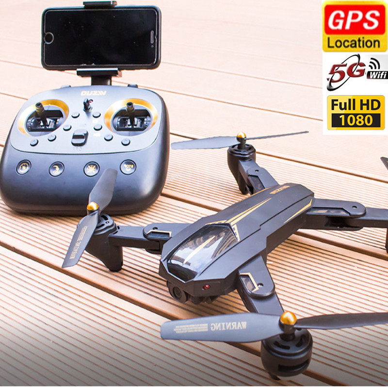 GPS Drone Smart Follow 5G WiFi FPV Drone 360 Degrees Surround flight Quadcopter One-click return Gravity Sensor Helicopter Dron image
