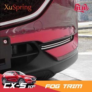 Image 1 - 2017 2020 マツダ CX 5 CX5 kf 車のフロント鋼トリムステッカーストリップガーニッシュ装飾クロームスタイリング 4 ピース/セット
