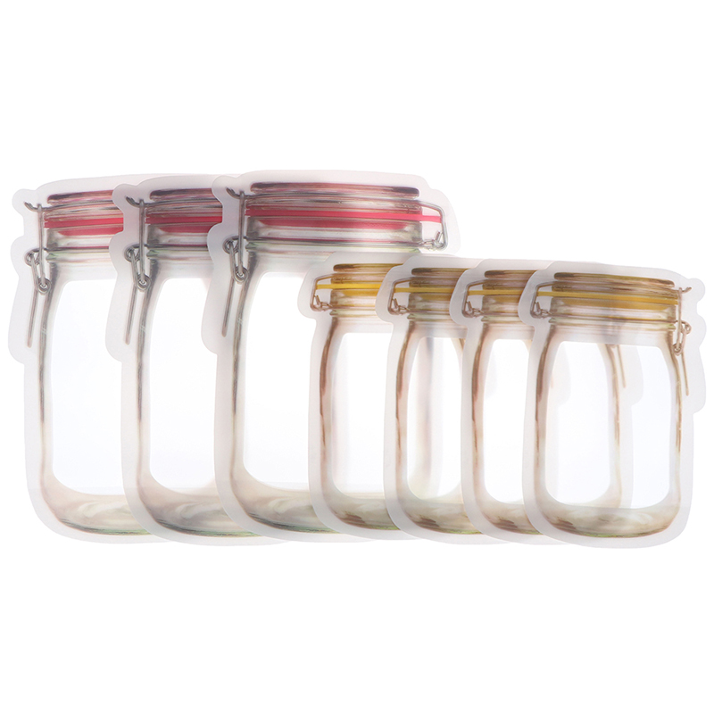 3/4PCS Reusable Silicone Food Freezer Storage Home Storage Kitchen Fresh Self-sealing Freezer Bag Versatile Container Snack Bag