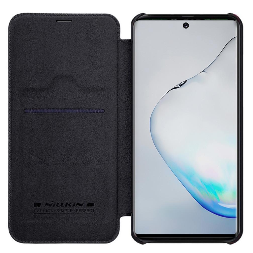 Para Samsung Galaxy Nota 10 + Pro 5G funda Nillkin Qin cuero de lujo libro cartera para Samsung Note10 pro Nota 10 Plus 5G caso