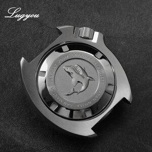 Image 5 - Lugyou סן מרטין צב Diver גברים שעון נירוסטה מכאני קרמיקה לוח מסתובב 20Bar ספיר קריסטל רצועת עור