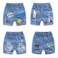 2020 летние джинсовые шорты для мальчиков и изображением персонажей из мультфильмов для детей, 1-8years детские брюки для девочек; Брюки для малы...