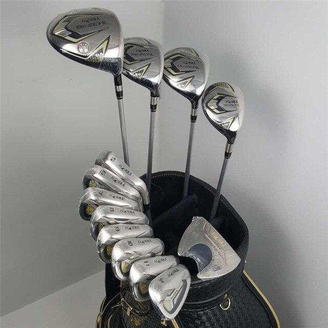 Nowy 525 kluby golfowe HONMA BEZEAL 525 kompletny zestaw kierowca HONMA Golf + drewno Fairway żelazka miotacz/13 sztuk grafitowy wałek golfowy (bez torby)