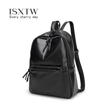 ISXTW Backpack Women Pu Leather School Bags For Teenage Girls Travel Designer Female Soft Laptop /C5
