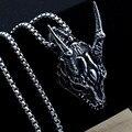 HNSP панк готическое животное овечья голова кулон ожерелье для мужчин Мужская цепь из нержавеющей стали