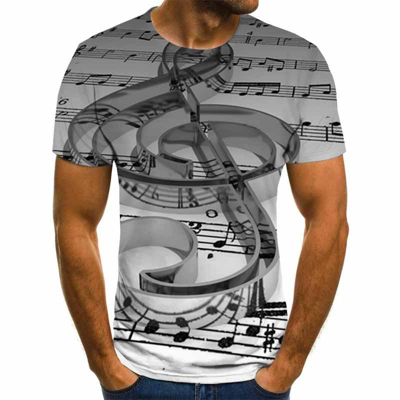 Летняя футболка унисекс с 3D принтом музыкальных инструментов и художественных инструментов, Повседневная летняя футболка в стиле хип-хоп, ...