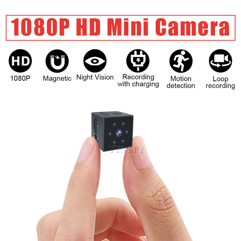 Mini Camera HD 1080P Nanny Cam with Motion Detection Night Vision and Arm Bandage for Sports Outdoor Magnetic Wearable Camcorder image
