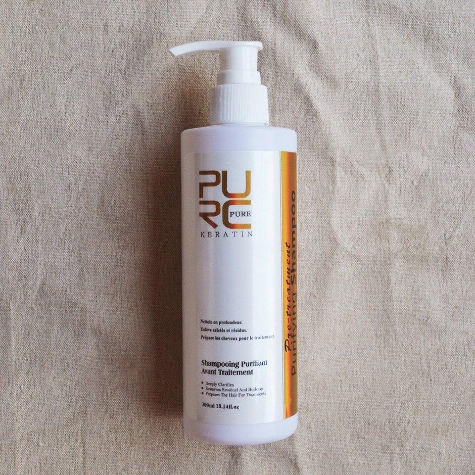 2PCS/lot PURC 8% Straightening Brazilian Chocolate Keratin Hair Treatment 1000ML + 300ML Purifying Shampoo Salon Hair Care Set