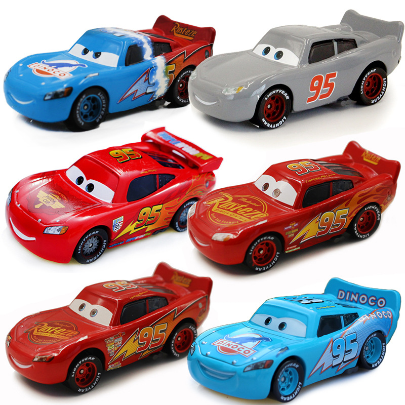 5 Styles Disney Pixar Cars 3 Dinosaur Grey Lightning McQueen 1 2 3 Series  1:55 Metal Diecasts Toy Vehicles Kids Car Gift