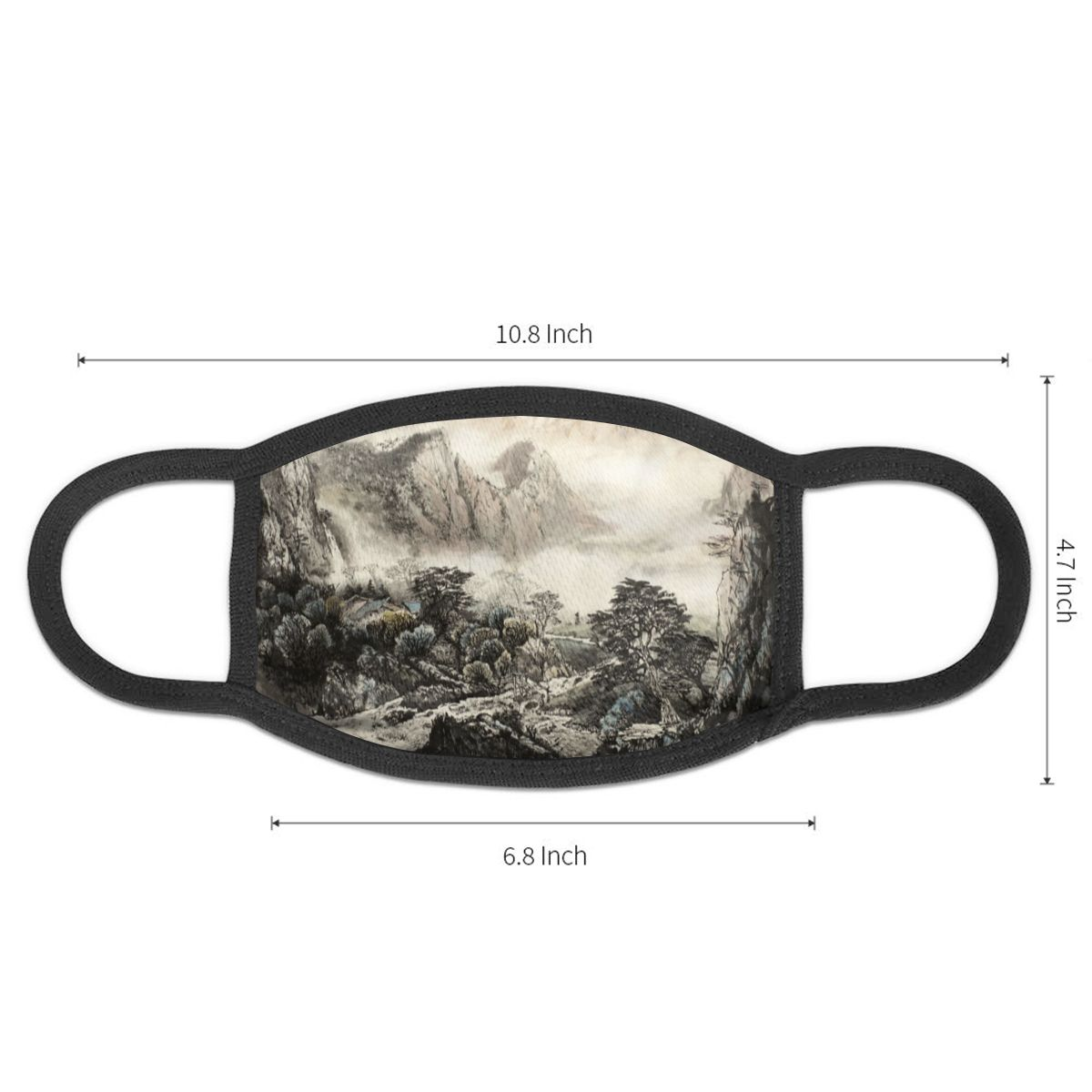 NOISYDESIGNS Unisex Chinese Wind Ink Landscape Ship Dustproof Mouth Face Mask Cycling Anti-Dust Protective Cover Masks Custom