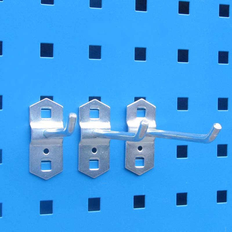 Wall-Montado Peças De Ferramenta caixa de Armazenamento gancho de aço Unidade de garagem Estantes Hardware Ferramenta organizar Caixa de placa de Suspensão de gancho up