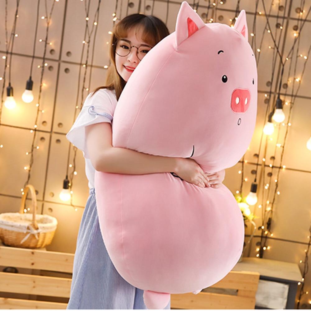 Soft Animal Cartoon Pillow Cushion Cute Fat Dinosaur Bear Pig Plush Toy Stuffed Lovely Kids Birthday Gift Christmas Present