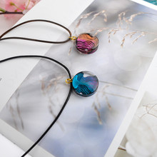 Flower Invitation DIY Resin Pendant Craft Transparent UV Island Necklace Unisex Resin Liquid Chain Jewelry(China)
