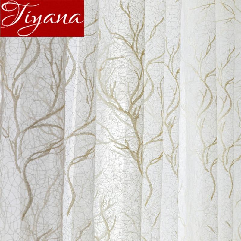 Geometric Bird Nest Curtain For Living Room Sheer Voile For Window Bedroom Tulle Drape Kitchen Custom Made Cortinas M156#30